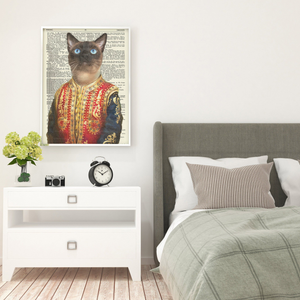 Vertical Printed Canvas - Mrmarsh mellow the cat
