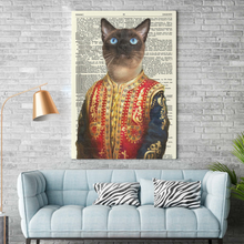 Load image into Gallery viewer, Vertical Printed Canvas - Mrmarsh mellow the cat