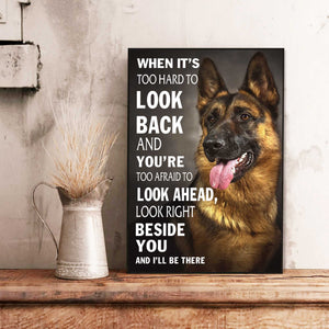 German Shepherd Beside You Canvas