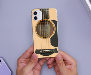 TR-DM Printed Phone Case -  Cream Guitar