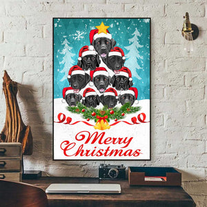 Labrador Merry Christmas Canvas