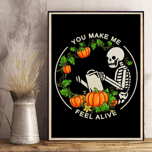 H-BB Vertical Printed Canvas - You Make Me Feel Alive