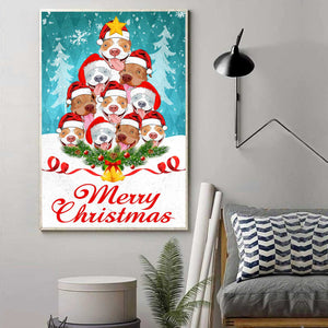 Pitbull Merry Christmas Canvas