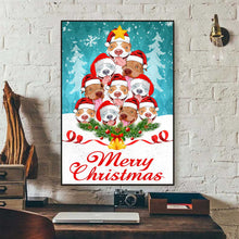 Load image into Gallery viewer, Pitbull Merry Christmas Canvas
