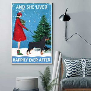 Rottweiler Happily Ever After Canvas