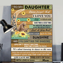 Load image into Gallery viewer, Sunflower Bear Daughter Canvas