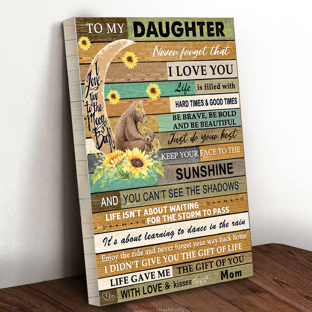 Sunflower Bear Daughter Canvas
