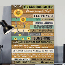 Load image into Gallery viewer, Sunflower Family Granddaughter Canvas