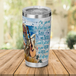 H-TD Design Vacuum Insulated Tumbler - Guitar Rock And Roll