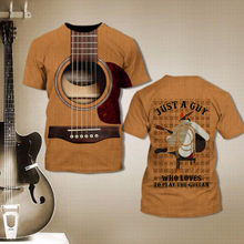 Load image into Gallery viewer, TR-DM Standard Printed Allover 3D Combo Shirt - Guy Loves Guitar
