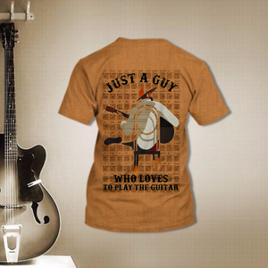 TR-DM Standard Printed Allover 3D Combo Shirt - Guy Loves Guitar