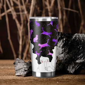 LH-BB Design Vacuum Insulated Tumbler - Just A Girl Who Loves Cats And More Cats