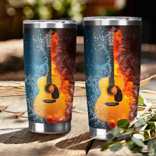 Load image into Gallery viewer, H-BB Design Vacuum Insulated Tumbler - Fire Water Guitar