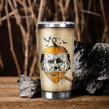 Load image into Gallery viewer, H-BB Design Vacuum Insulated Tumbler - Pumpkin Leather Mask