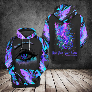 VA-BB Standard Printed Allover Hoodie - Rise From Your Ashes