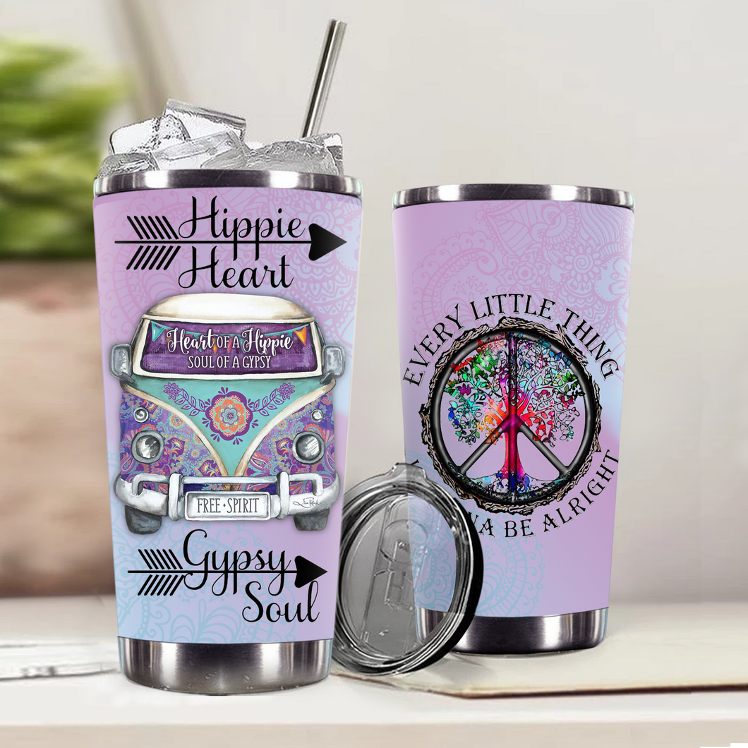 VA-DH Design Vacuum Insulated Tumbler - Hippie Gypsy Soul