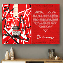 Load image into Gallery viewer, VA-NH Horizontal Printed Canvas - Red Dreams Guitar