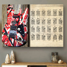 Load image into Gallery viewer, VA-NH Horizontal Printed Canvas - Red Guitar Chords