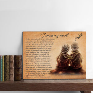 VA-NH Horizontal Printed Canvas - Unconditional Love