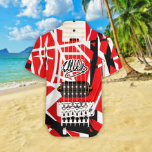 Load image into Gallery viewer, VA-NH Standard Printed Allover 3D Shirt - Red Pattern Guitar