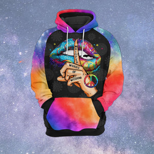 VA-NH Standard Printed Allover Hoodie - Colorful Whisper Lips