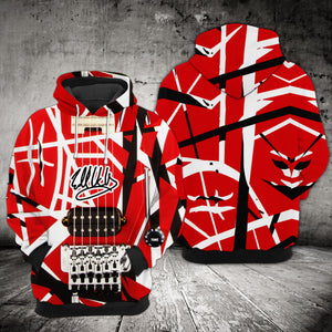 VA-NH Standard Printed Allover Hoodie - Red Guitar Pattern