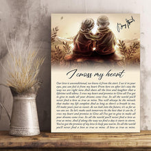 Load image into Gallery viewer, VA-NH Vertical Printed Canvas - Cross My Heart