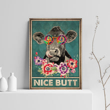Load image into Gallery viewer, VA-NH Vertical Printed Canvas - Hippie Cow