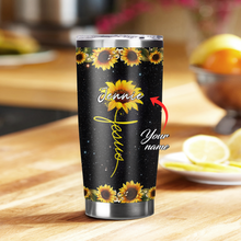 Load image into Gallery viewer, VH-BB Custom Name Design Vacuum Insulated Tumbler - Strong Sunflower