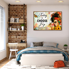 Load image into Gallery viewer, VH-BB Horizontal Printed Canvas - Today I Choose Joy