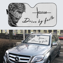 Load image into Gallery viewer, VH-BB Windshield Sunshade - Jesus By Faith