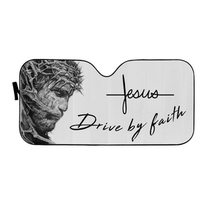 VH-BB Windshield Sunshade - Jesus By Faith