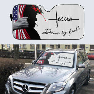 VH-BB Windshield Sunshade - Jesus Drive By Faith
