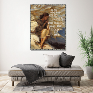 VH-QK Vertical Printed Canvas - Under His Wings