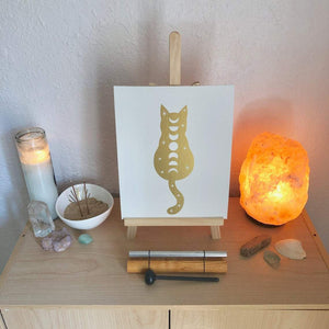 Vertical Printed Canvas - Cosmic Cat