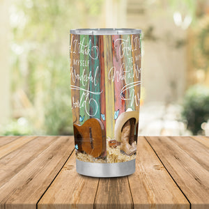 H-TD Design Vacuum Insulated Tumbler - Cowboy With Guitar