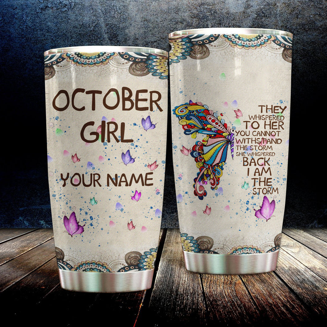 MC-DD Custom Design Vacuum Insulated Tumbler -  Colorful Butterfly