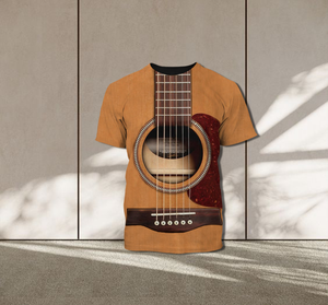 TR-TN Standard Printed Combo Allover 3D Tops - Cats And Guitar