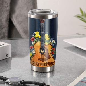 H-DH Design Vacuum Insulated Tumbler - Stay Wild Child