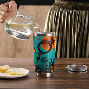 H-DD Design Vacuum Insulated Tumbler - Guitar Halloween