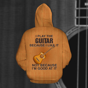 TR-DM Standard Printed Combo Allover 3D Tops - I Play The Guitar