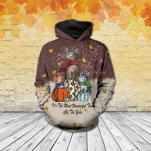 TT-HA Standard Printed Allover Hoodie And Sweater-  It's The Most Wonderful Time Of The Year