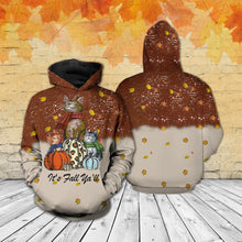 Load image into Gallery viewer, TT-HA Standard Printed Allover Hoodie And Sweater - It's Fall Ya'll