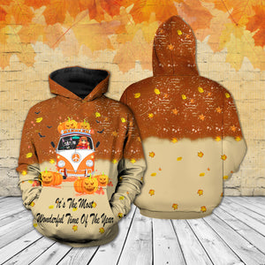 TT-HA Standard Printed Allover Hoodie And Sweater - It's The Most Wonderful Time Of The Year