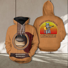Load image into Gallery viewer, TR-TN Standard Printed Combo Allover 3D Tops - Cats And Guitar