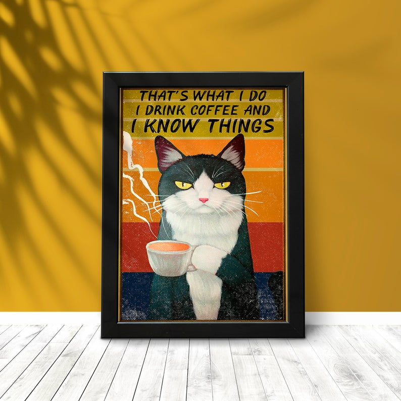 That's What I Do Bicolor Cat Canvas