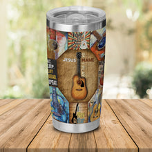 Load image into Gallery viewer, H-TD Design Vacuum Insulated Tumbler - God Name Play Guitar