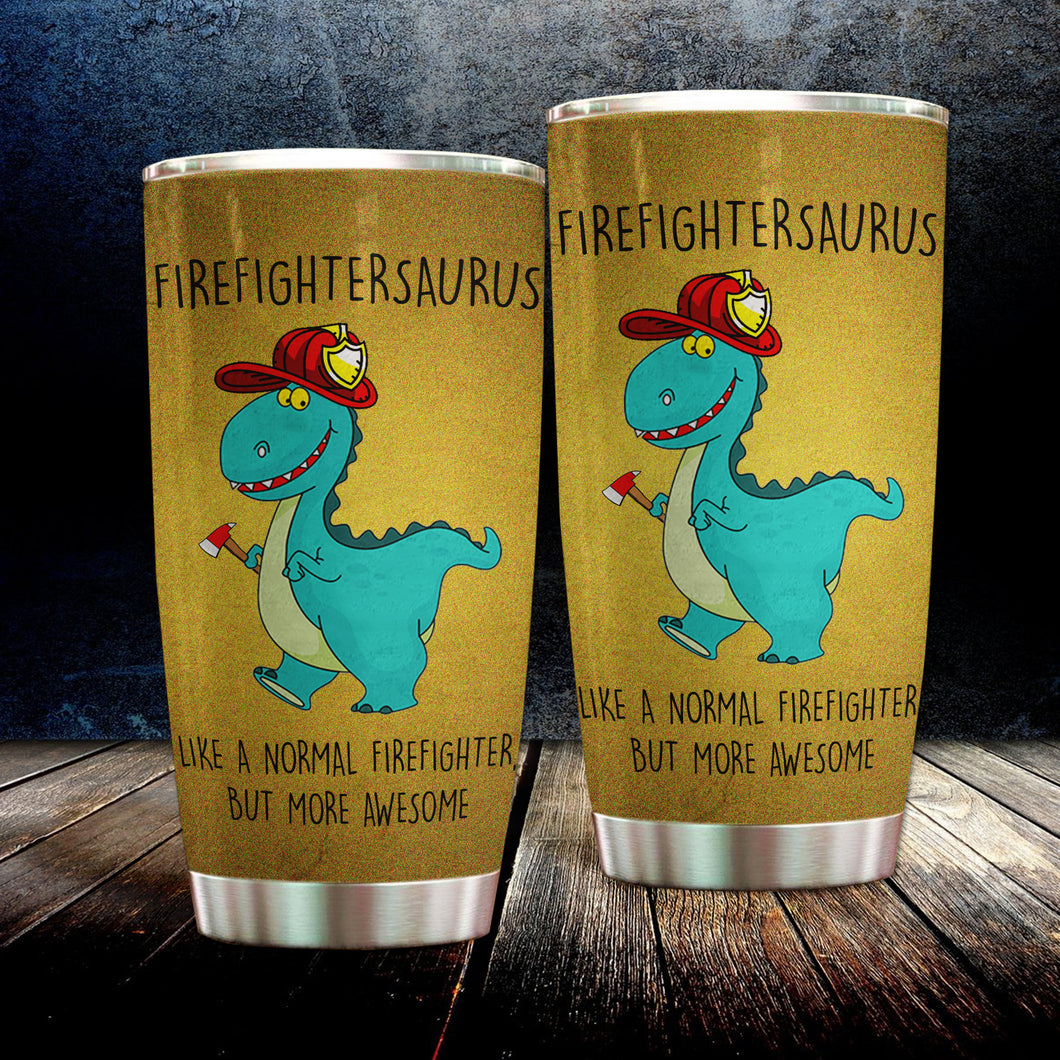 MC-DD Design Vacuum Insulated Tumbler -Firefightersaurus
