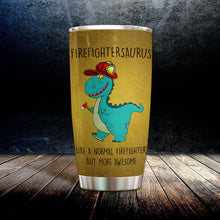 Load image into Gallery viewer, MC-DD Design Vacuum Insulated Tumbler -Firefightersaurus