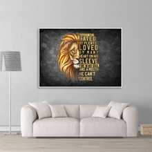 Load image into Gallery viewer, Vertical Printed Canvas - Lion August Boy Canvas